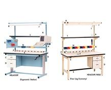 ERGONOMIC BASE WORK STATION AND ELECTRIC HEIGHT WORKBENCHES  - OPTIONAL ACCESSORIES